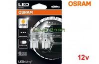 Lâmpadas LED W21/5W Amber / Laranja Osram LEDriving PREMIUM SL - Pack Duo Blister