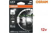 Lâmpadas LED W5W Branco 6000K Osram LEDriving PREMIUM SL - Pack Duo Blister
