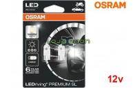 Lâmpadas LED W5W Branco 4000K Osram LEDriving PREMIUM SL - Pack Duo Blister