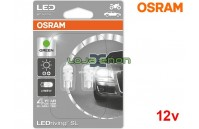 Lâmpadas LED W5W Verde Osram LEDriving SL - Pack Duo Blister