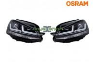 Faróis LEDriving® para VW Golf VII Black Osram LEDHL104-BK