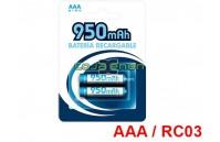2x Pilhas Recarregáveis Ni-mh AAA / RC03 1.2v 950 mAh