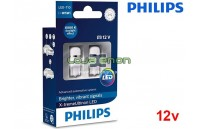 Lâmpadas LED W5W 6000K Philips X-tremeUltinon - Pack Duo