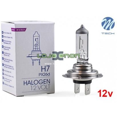 Lâmpada Halogéneo H7 55W 12V M-Tech - Individual