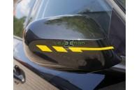 Faixa Decorativa para Espelhos Retrovisores 12x355mm Várias Cores Foliatec