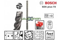Broca SDS Plus-7X Bosch 9mm x 100mm x 165mm Alvenaria e Betão
