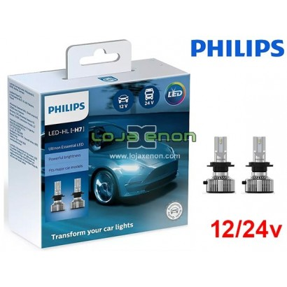 Kit LED H7 Philips Ultinon Essential 20W 6500K