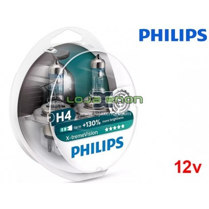 Lâmpadas Halogéneo X-tremeVision Philips H1, H4, H7 - Duo Pack