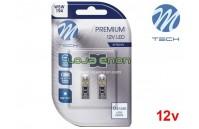 Lâmpadas LED T10 W5W Canbus 8xSMD 3528 Cool White Premium Blister 2x M-Tech