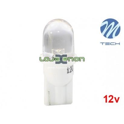 Lâmpada LED W5W T10 1xLED Flux 8mm Cool White Basic M-Tech - Individual
