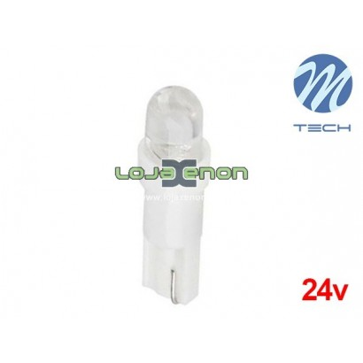 Lâmpada LED T5 1xLED Flux 5mm Cool White Basic M-Tech 24V - Individual