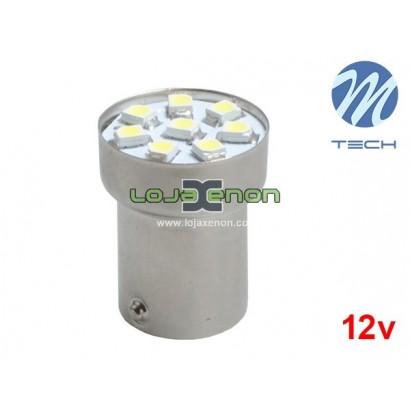 Lâmpada LED BA15s G18 8xSMD 3528 Cool White Basic M-Tech - Individual