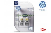 Lâmpadas LED T20 W21/5W 21xSMD 2835 Cool White Basic M-Tech - Pack Duo Blister