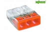 Ligador rápido compacto 3 fios Wago 2273-203