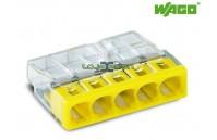 Ligador rápido compacto 5 fios Wago 2273-205