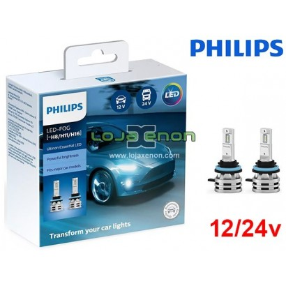 Kit LED H8 H11 H16 Philips Ultinon Essential 24W 6500K