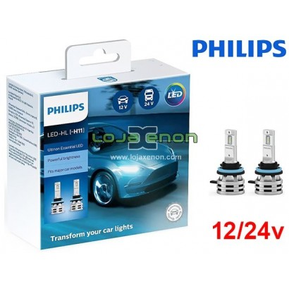 Kit LED H11 Philips Ultinon Essential 24W 6500K