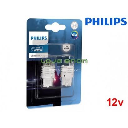 Lâmpadas LED W21W 6000K Philips Ultinon Pro3000 - Pack Duo Blister