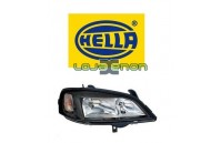 Farol Direito HELLA Rebordo Preto Opel Astra G 1998-2004