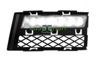 Grelhas com Luzes Diurnas Led Fumadas Audi A4 8E/B7 (2005-2008)