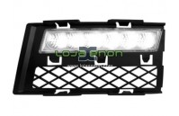 Grelhas com Luzes Diurnas Led Cromadas Audi A4 8E/B7 (2005-2008)