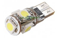 W5W T10 com 5 LEDS SMD 5050 CANBUS