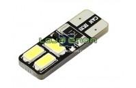 W5W T10 com 6 LEDS SMD 5730 CANBUS 6000k 12v