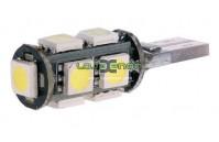 W5W T10 com 9 LEDS SMD 5050 CANBUS 5000k / 6000k