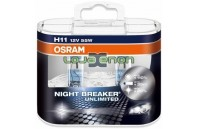 H11 OSRAM NIGHT BREAKER Unlimited H11 DUO - 55W Halogéneo