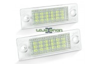 Farolins de matrícula em Led - VW Passat, Touran, Caddy. Jetta