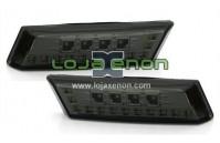 Piscas Laterais negros em Led - Audi