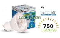Lâmpada LED GU10 8w V-TAC