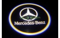 Luzes Cortesia Laser com Logotipo Mercedes A207 C117 C207 C218