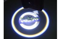 Luzes Cortesia Laser com Logotipo Volvo