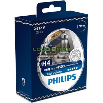 Lâmpadas Philips Halogéneo RacingVision H4, H7
